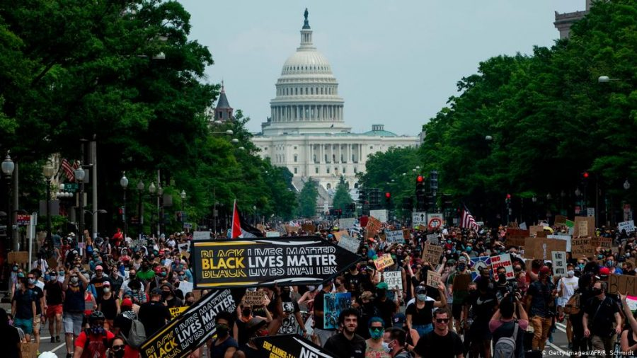 On June 6th, thousands of people of different race, gender, sexuality, religion and age gathered in Washington D.C. to protest police brutality and racism in America.
