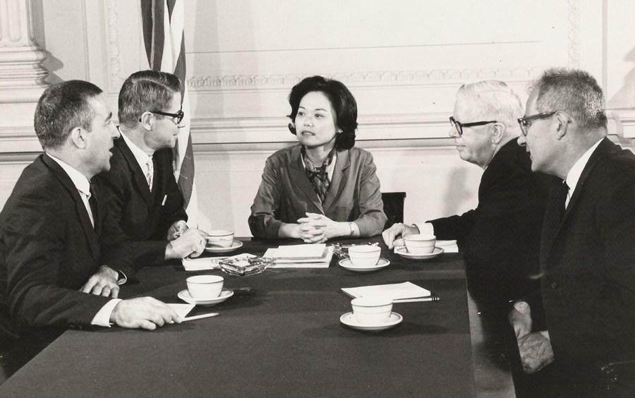 Representative Patsy Mink in Washington D.C.