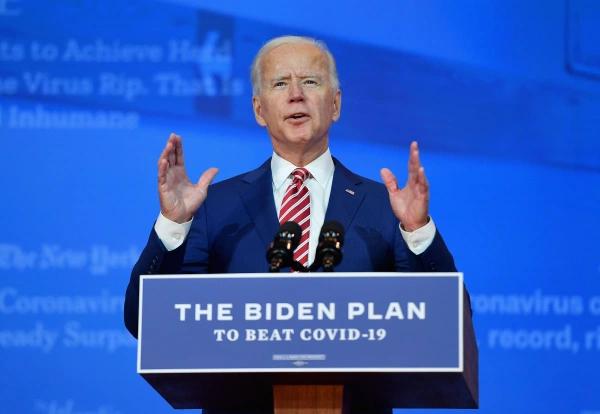 President-Elect Joe Biden delivering a speech on his COVID-19 plan.