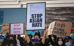 Asian American Hate has risen over the last couple of months. Pictured: A #STOPASIANHATE Rally in San Jose.